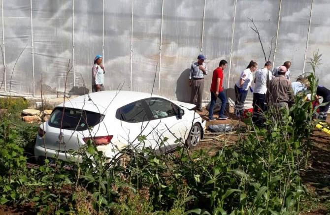Gazipaşa'da kaza, 2 yaralı