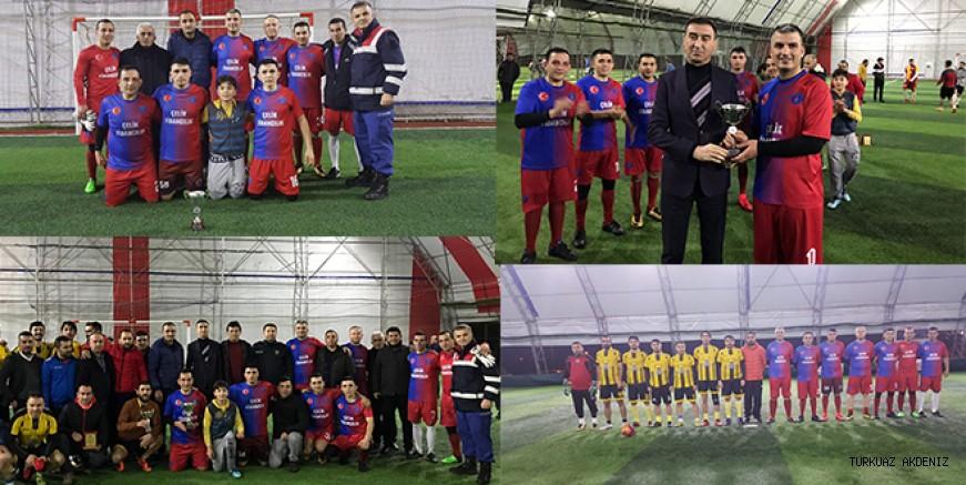Kaymakamlık futbol turnuvasının şampiyonu, Jandarma spor oldu