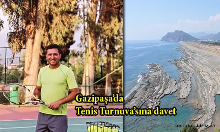 Gazipaşa'da Tenis Turnuva'sına davet