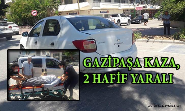 GAZİPAŞA KAZA, 2 HAFİF YARALI