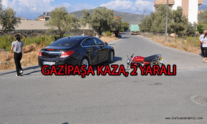 GAZİPAŞA KAZA, 2 YARALI